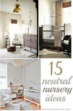 15 GORGEOUS Neutral Nursery Ideas. the striped ceiling is an interesting idea.