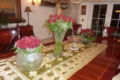 Red Roses center pieces