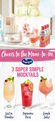 No Baby Shower Is Complete Without A Signature Mocktail. Serve Up The  Mom To Be A Refreshing Beverage She Can Enjoy U2013 Lost In Paradise, Sunset  Manhattan And ...