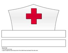 This is an image of Massif Printable Nurse Hat Template