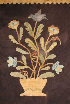 Folk Art Flowers in Bloom - Wool Applique