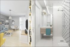 © Devangari Design www. Oversized Mirror, Living Room, Interior Design, Furniture, Home Decor, Interior Design Studio, Homemade Home Decor, Decoration Home, Room Decor
