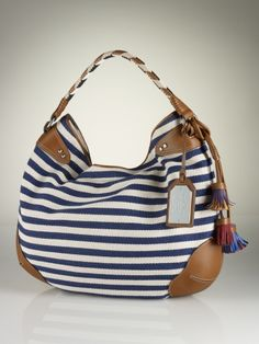 Lauren  Andalusia Striped Hobo