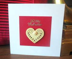 To my valentine - Valentines card - Valentines - Valentines day  card for her, him, girlfriend, husband, boyfriend, fiancee, wife - etsy uk by FyneHandmadeCards on Etsy
