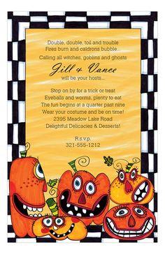 Party #Pumpkins Invitation : #Halloween Invitations