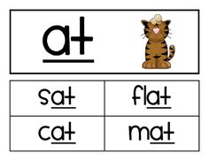 Word Family Cards/Activities