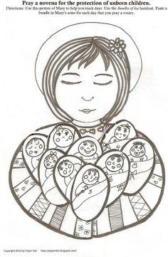 Paper Dali: Pro-Life Novena: Activity Sheet- free to print! I love this. :-)