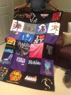 #Annie #LionKing #PeterPan #TheArts #Broadway #tshirtquilts www.ProjectRepat.com