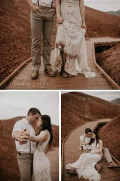 Beautiful elopement photos taken at Painted Hills in Bend Oregon. For more visit us on INYS. Outdoor Wedding Photography, Romantic Photography, Wedding Photography Inspiration, Couple Photography, Wedding Couples, Wedding Photos, Wedding Ideas, Creative Couples Photography, Painted Hills