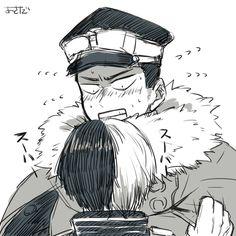 Boku no Hero Academia || Yoarashi Inasa, Todoroki Shouto.