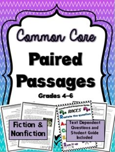 Paired Passages made easy!  This product contains an engaging myth and informational text on the same topic.  This rigorous text may be used as independent or guided practice for state testing, or as a model for responding to short and extended constructed response questions.