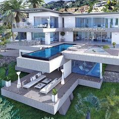 """Luxury Homes Interior Dream Houses Exterior Most Expensive Mansions Plans Modern 👉 Get Your FREE Guide """"The Best Ways To Make Money Online"""" Dream Home Design, Modern House Design, Dream Mansion, Beach Mansion, Luxury Homes Dream Houses, Luxury Life, Dream Homes, Modern Mansion, Dream House Exterior"""