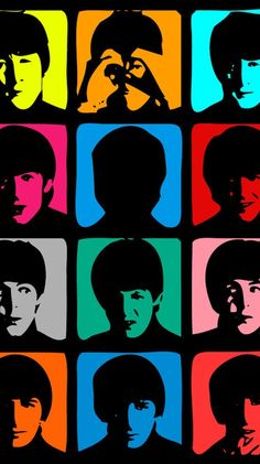 Beatles faces iPhone 5 wallpaper