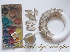 wreath3 Christmas Wreaths, Coasters, Diy, Bricolage, Coaster, Do It Yourself, Homemade, Diys, Crafting