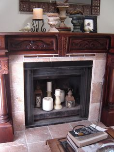 Heart And Home: How to Lighten Up an Empty Fireplace at Heart and Home
