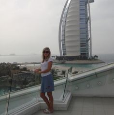 Turkish Girl Near Burj Ul Arab