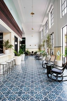 hotel arquitectura The American Trade Hotel In The Historic Casco Viejo District Of Panama City Casa Hotel, Hotel Lobby, Design Hotel, Restaurant Design, Lobby Design, Cafe Restaurant, Floor Design, House Design, Stil Inspiration