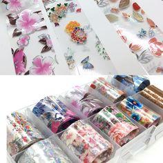 Nail Salon Decor, Transfer Foil, Cheap Stickers, Funky Nails, Foil Paper, Nail Art, Foil Nails, Nail Decorations, Flower Nails