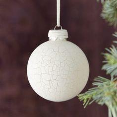 Crackled Globe Ornament