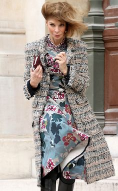 Anna Wintour from Stars at Paris Fashion Week Fall 2014 | E! Online Nice look
