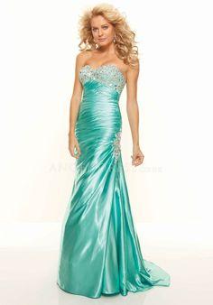 Sleeveless Sheath/ Column Elastic Silk Like Satin Empire Sweetheart Dresses For Prom
