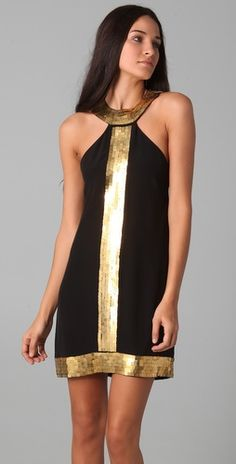 Been eying this Sheri Bodell dress for awhile. Love its ancient Egyptian vibe with the gold collar