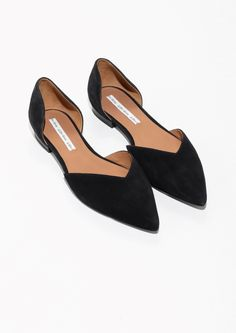 & Other Stories image 2 of Pointed Ballerina Flats in Black