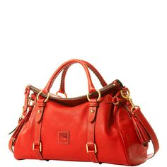 Dooney & Bourke Medium Satchel Bag Handbag Purse - Red Leather +Dust Bag #DooneyBourke #Satchel
