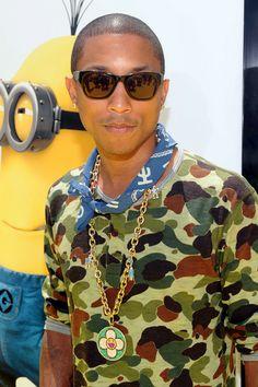Pharrell Williams gets the 411 on Naomi Campbell's beauty secrets