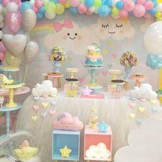 Adoro! Festa Chuva de Amor ideal para meninas e chá de bebê!🌨☁️🌩⛈🌧