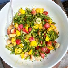 Roasted Beets, Radishes, Squash and Green Beans with an Orange-Dill Vinaigrette [Recipe] - Baby Bird's Farm and Cocina Gf Recipes, Vegetarian Recipes, Healthy Recipes, Vegetarian Lifestyle, Free Recipes, Recipies, Roasted Veggie Salad, Roasted Beets, Homemade Almond Milk