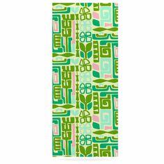 """Amy Reber """"Maze"""" Green Vector Luxe Rectangle Panel"""