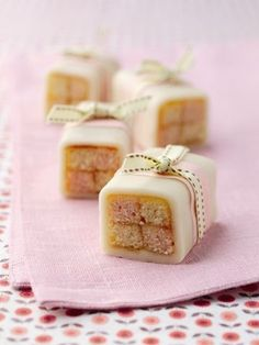 Mini Battenburgs - Have had success making a giant batternburg, though have not yet tried baking the mini ones. They look lovely to give as gifts or for a special occasion.