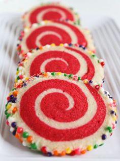 Colorful Spiral Cookies | Sprinkle Bakes