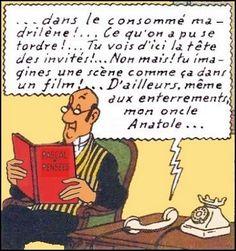 nestor lisant • Nestor the butler • Tintin, Herge j'aime