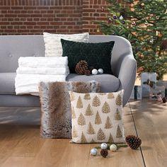 Poduszka ozd. GROSSULAR 45x45 drzewa beż