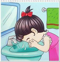 A lavarse la cara