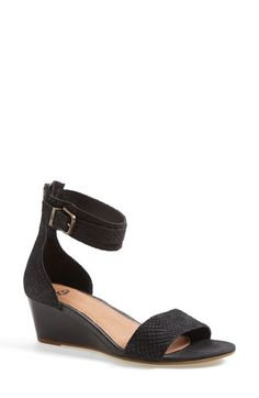 Free shipping and returns on UGG® Australia 'Char Mar' Ankle Cuff Wedge Sandal (Women) at Nordstrom.com. Snake-embossed straps lend exotic vibes to a statement-making sandal set on a striking stacked wedge. PORON® cushioning provides wonderful day-long comfort.
