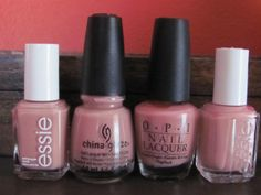 Pink Nudes – Essie Eternal Optimist, China Glaze Gelato
