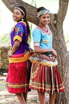 Tsonga Shangaan traditional wear 2018 African Dresses For Women, African Men, African Attire, African Beauty, African Fashion, African Outfits, Wedding Dress, Dream Wedding, Orange Skirt