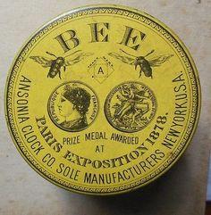 Antique 1878 Paris Exposition Bee Ansonia Clock Co. Watch Tin Tin by Ginna