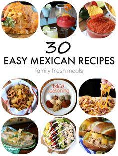 Easy Mexican Recipes for Cinco De Mayo - FamilyFreshMeals. com -