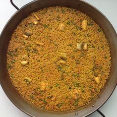 Paella de congre amb pèsols #117