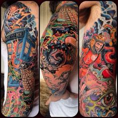 Not sure if I've pinned this one before or not, but even if I have it deserves pinning again. Definitely one of the better Tardis tattoos and all around rad sleeve in general.