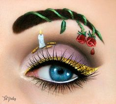 Special Christmas Makeup Ideas 2019 - Chicbetter Inspiration for Modern Women - Make Up Makeup Eye Looks, Eye Makeup Art, Beautiful Eye Makeup, Crazy Makeup, Eye Art, Cute Makeup, Eyeshadow Makeup, Fairy Makeup, Mermaid Makeup