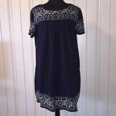 NWT Lucky Brand Navy Boho Embroidered Shift Dress Amazing dress! Fully lined! Size Medium! New with tags!!! Lucky Brand Dresses