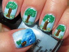 Trees and an island in the sea, Im not really a fan of the tree on all fingers, maybe just on the ring finger or something