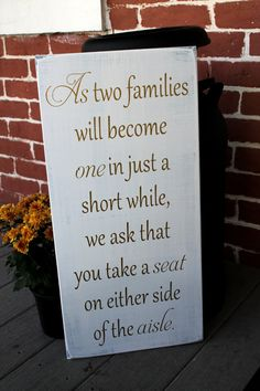 Hey, I found this really awesome Etsy listing at https://www.etsy.com/listing/165639970/11-x-23-wooden-wedding-sign-as-two