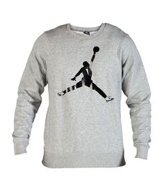JORDAN MENS AJXI BLACK TIE FLEECE CREW SWEATSHIRT (GREY) $70 http://www.jimmyjazz.com/mens/clothing/jordan-ajxi-black-tie-fleece-crew-sweatshirt/618197063?color=Grey