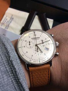 Junkers Bauhaus German-made 6086-5 Swiss Quartz Chronograph Watch